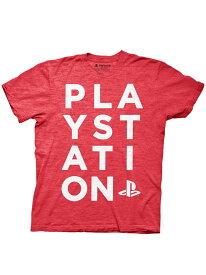 ゲームTシャツ PLAYSTATION / RUN ON TYPE オフィシャル ライセンス 逆輸入 Tシャツ プレイステーション プレステ SONY