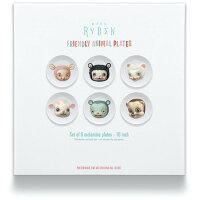 MARKRYDEN/FRIENDLYANIMALPLATES6枚セット限定コレクターズボックスアートローブローポップアートファインアート