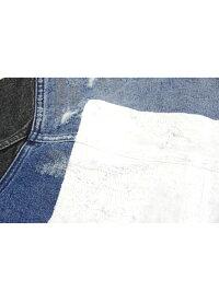 NEUWDENIM/THRASHJACKETAW17デニムジャケットGジャンダメージ加工カスタムスラッシュメタル
