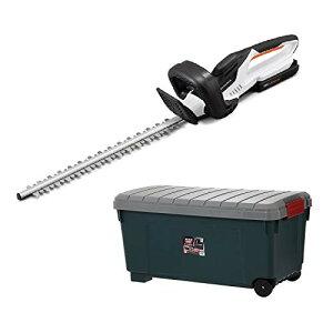 【収納ケースセット】アイリスオーヤマ ヘッジトリマー 草刈り機 充電式 コードレス 刈込幅350 充電器 バッテリー 付き JHT350