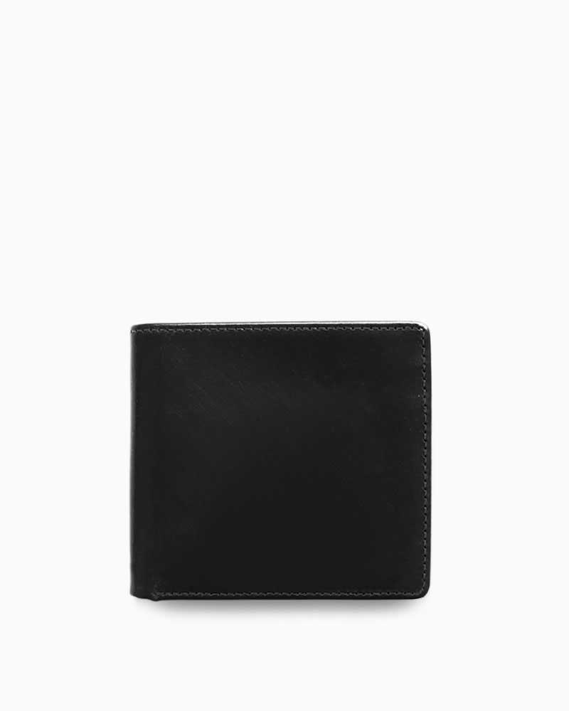 ホワイトハウスコックス【Whitehouse Cox】型番:S7532(ブラック) 財布 二つ折り財布 ブライドルレザー 牛革 男女兼用