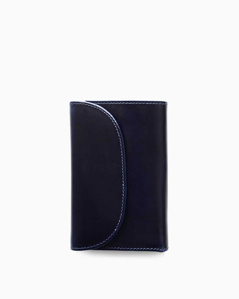ホワイトハウスコックス【Whitehouse Cox】型番:S7660(ネイビー×ナチュラル) 財布 三つ折り財布 ツートン ヴィンテージブライドルレザー 牛革 男女兼用 (ネイビー)(ベージュ)