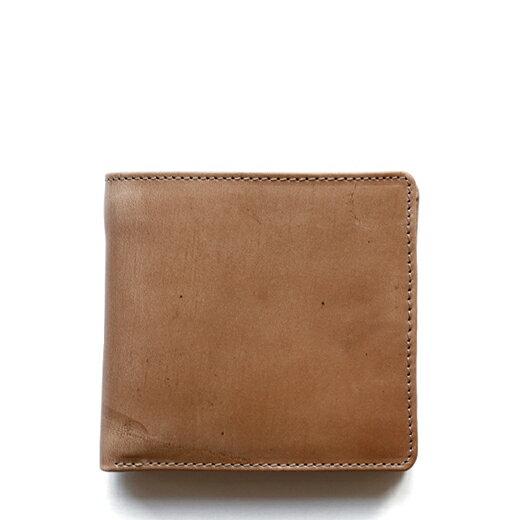 ホワイトハウスコックス【Whitehouse Cox】型番:S7532(ナチュラル) 財布 二つ折り財布 ツートン ヴィンテージブライドルレザー 牛革 男女兼用(ベージュ)