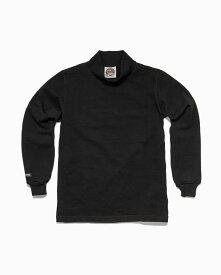 バーバリアン【BARBARIAN】8oz MOCK LONG / OFE19 (ブラック)メンズ 長袖 ラガーシャツ ライトウエイト モックネック