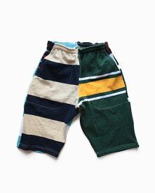 バーバリアン【BARBARIAN】12oz SHORT PANTS /(ワイルドワンズ)メンズ パンツ ニットパンツ ショートパンツ マルチボーダー マルチカラー クレイジーパターンこの商品は、1枚1枚の柄が商品によって違います。