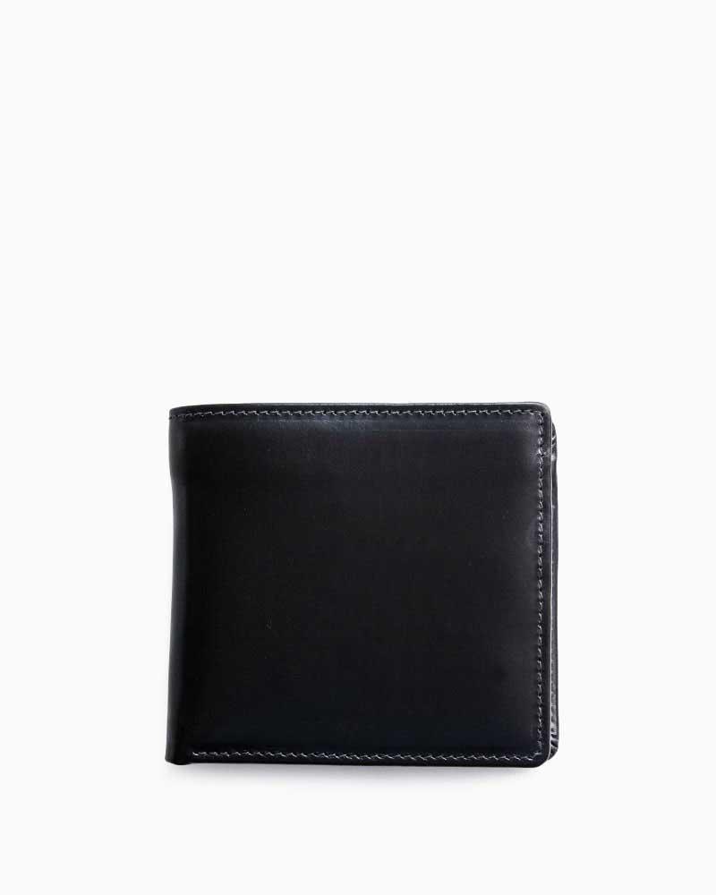 ホワイトハウスコックス【Whitehouse Cox】型番:S7532(ブラック/レッド) 財布 二つ折り財布 ブライドルレザー ツートン 牛革 男女兼用