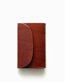 ホワイトハウスコックス【Whitehouse Cox】型番:S7660(アンティーク) 財布 三つ折り財布 アンティークブライドルレザー 牛革 男女兼用(ブラウン)
