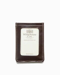 ホワイトハウスコックス【Whitehouse Cox】型番:S9905(ハバナ) パスケース 定期入れ ビジネスツール アクセサリー ブライドルレザー 牛革 男女兼用
