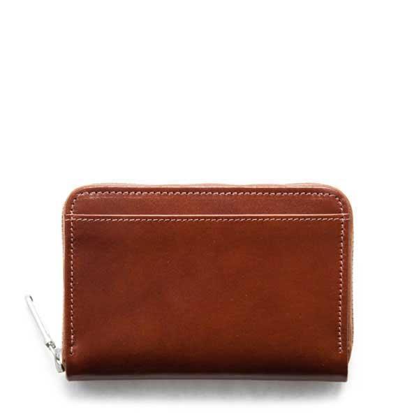 ホワイトハウスコックス【Whitehouse Cox】型番:S1850(タン) ジップ付き 二つ折り財布 シャドーカーフ 牛革 男女兼用