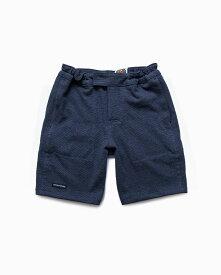 バーバリアン【BARBARIAN】12oz SHORT PANTS / QSF22(ネイビー/インディゴ)メンズ パンツ ニットパンツ ショートパンツ