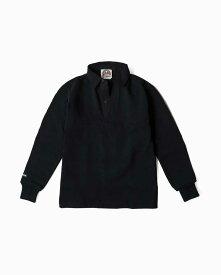 バーバリアン【BARBARIAN】12oz REGULER LONG / BSLA05(ブラック)メンズ 長袖 レギュラーカラー ラガーシャツ 無地