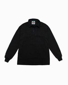 バーバリアン【BARBARIAN】8oz REGULER LONG / CSLA05(ブラック)メンズ 長袖 レギュラーカラー ラガーシャツ ライトウエイト 無地