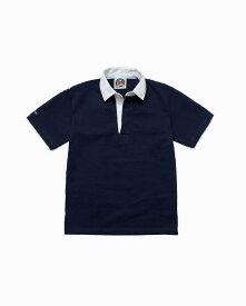 バーバリアン【BARBARIAN】8oz REGULER SHORT / CSSA04(ネイビー)メンズ 半袖 レギュラーカラー ラガーシャツ ライトウエイト