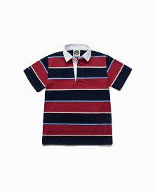 バーバリアン【BARBARIAN】8oz REGULER SHORT / CSSB03(ネイビー/スカイ/スカーレット/ベージュ)メンズ 半袖 レギュラーカラー ラガーシャツ ライトウエイト