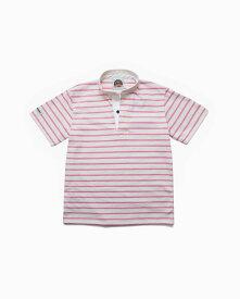 バーバリアン【BARBARIAN】8oz HENLEY SHORT / CHSF03(アイボリー/ピンク)メンズ 半袖 ヘンリーカラー スタンドカラー ラガーシャツ ライトウエイト