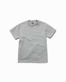 バーバリアン【BARBARIAN】8oz CREW SHORT / CCSA02(アッシュ)メンズ 半袖 ラガーシャツ ライトウエイト クルーネック 無地