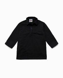 バーバリアン【BARBARIAN】8oz REGULER 3/4 RSF09(ブラック)メンズ 七分袖 レギュラーカラー ラガーシャツ ライトウエイト 無地