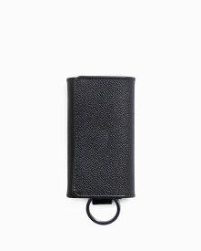 ホワイトハウスコックス【Whitehouse Cox】型番:S9692(ブラック) キーケース ビジネスツール ロンドンカーフ×ブライドルレザー ツートン 牛革 男女兼用