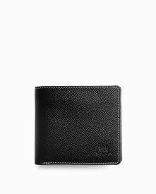 ホワイトハウスコックス【Whitehouse Cox】型番:S7532(ブラック/レッド) 財布 二つ折り財布 ツートン ロンドンカーフ×ブライドルレザー 牛革 男女兼用財布