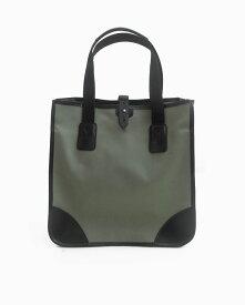 ホワイトハウスコックス【Whitehouse Cox】型番:L9070(グレー/ブラック) トートバッグ 鞄 コットンツイルキャンバス ブライドルレザー ツートーン 牛革 男女兼用