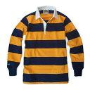 バーバリアン【BARBARIAN】GNBSS L/S NSF04(ネイビー×ゴールド)メンズ 長袖 レギュラーカラー ラガーシャツ ボー…