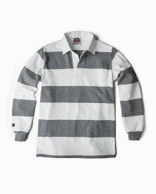バーバリアン【BARBARIAN】12oz REGULER LONG / BSLD02(ホワイト/オックスフォード)メンズ 長袖 レギュラーカラー ラガーシャツ ボーダー