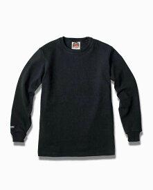 バーバリアン【BARBARIAN】12oz CREW LONG / BCLA05(ブラック)メンズ 長袖 ラガーシャツ クルーネック ソリッド 無地
