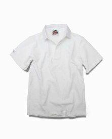 バーバリアン【BARBARIAN】12oz REGULER SHORT / BSSA01(ホワイト)メンズ 半袖 レギュラーカラー ラガーシャツ 無地