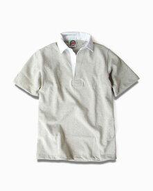 バーバリアン【BARBARIAN】12oz REGULER SHORT / BSSA02(アッシュ)メンズ 半袖 レギュラーカラー ラガーシャツ 無地