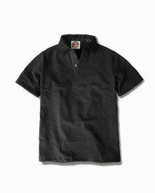 バーバリアン【BARBARIAN】12oz REGULER SHORT / BSSA05(ブラック)メンズ 半袖 レギュラーカラー ラガーシャツ 無地