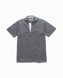 バーバリアン【BARBARIAN】8oz HENLEY SHORT / CHSA03(オックスフォード)メンズ 半袖 ヘンリーカラー スタンドカラー ラガーシャツ ライトウエイト