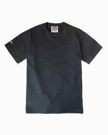 バーバリアン【BARBARIAN】8oz CREW SHORT / CCSA05(ブラック)メンズ 半袖 ラガーシャツ ライトウエイト クルーネック 無地