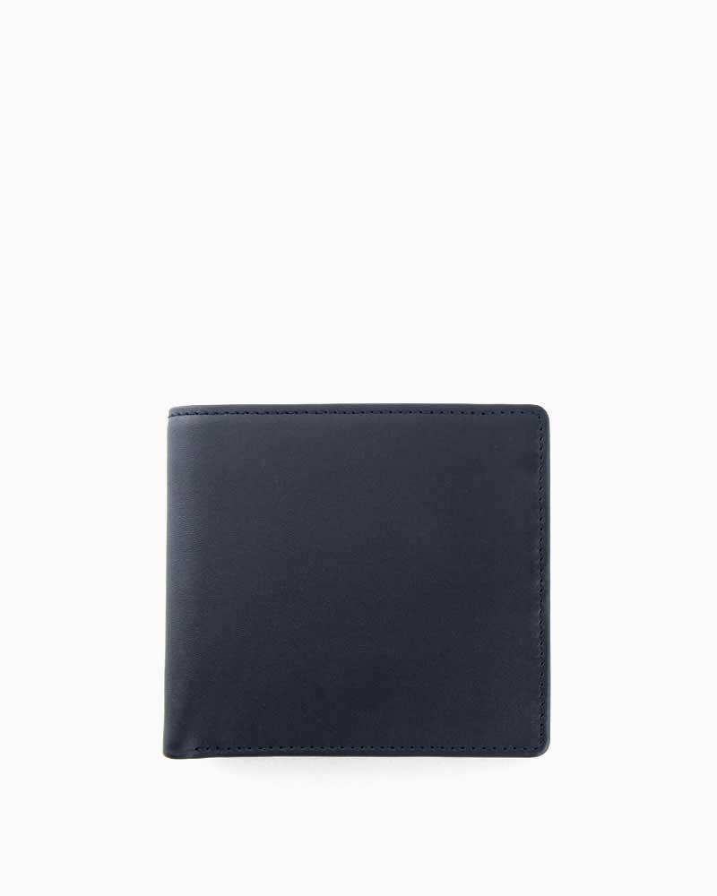 ホワイトハウスコックス【Whitehouse Cox】型番:S7532(ネイビー×タン) 財布 二つ折り財布 ツートン ダービーコレクション 馬革 ホースハイド 男女兼用 (ネイビー)(タン)