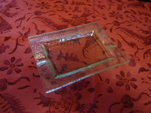 リゾート雑貨 灰皿 アッシュトレイ バリガラス シンプルアッシュトレイ アジアン雑貨 バリ雑貨