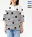 [ORCIVAL]オーチバル オーシバル RC01 ドロップショルダーボーダーバスクシャツ(ドットプリント)6814