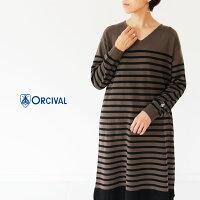 [ORCIVAL]オーチバル・オーシバルMERINOWOOLVネックワンピースRC-4311