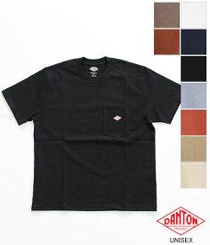 [DANTON]ダントン 14/-空紡天竺 クルーネックポケットTシャツ(メンズ レディース) JD-9041