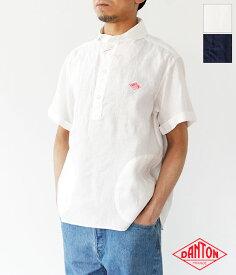 [DANTON]ダントン LINEN CLOTH 半袖プルオーバーシャツ(メンズ) JD-3569 KLS