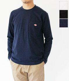 [DANTON]ダントン 14/-空紡天竺クルーネックポケット長袖Tシャツ(メンズ) JD-9077