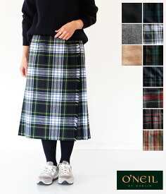[O'NEIL OF DUBLIN]オニールオブダブリン ウールキルトスカート(73cm) 5073