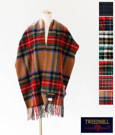 [TWEED MILL]ツイードミル ウールブランケットストール(CHECK) 70-190
