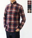 [nisica]ニシカ ネルチェック長袖ボタンダウンシャツ NIS-836-SH