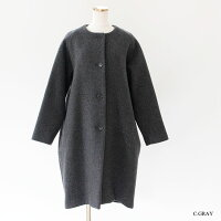 [TRAVAILMANUEL]トラバイユマニュアルバルキーモッサコクーンコート402004