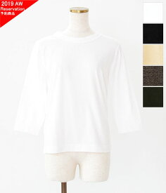 [homspun]ホームスパン 天竺七分袖Tシャツ 6450