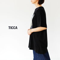 [TICCA]ティッカフォトプリントTシャツUNISEX(BLACK)TBAS-451〜TBAS-455