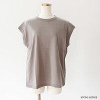 [handvaerk]ハンドバーク60/2crewnecksleevelesst-shirtクルーネックスリーブレスTシャツ6110