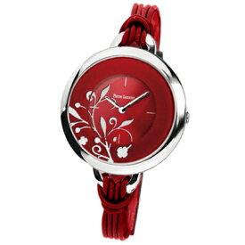 腕時計 レディース ピエールラニエ ブランド フラワー柄カラフルBIGストリングウォッチ ストリングベルト 丸型 P068H いい夫婦の日 結婚記念日 クリスマス