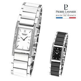 ピエールラニエ レクタングル型ジルコニアセラミックウォッチ(シルバー) レディース腕時計 シルバー 長方形 セラミック 防水p054j600 p054j639