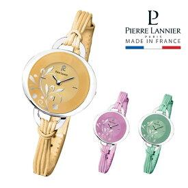 腕時計 レディース ブランド ピエールラニエ フラワー柄ストリングウォッチP042Fモデル ストリングベルト 楕円型 防水p041j618 p042f658 p042f677
