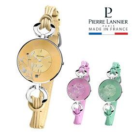 腕時計 レディース ブランド ピエールラニエ ラワー柄ストリングウォッチ ストリングベルト 丸型 防水p076f618 p076f658 p076f677